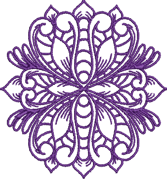 Elegant Motif or Free Standing Lace Machine Embroidery Design