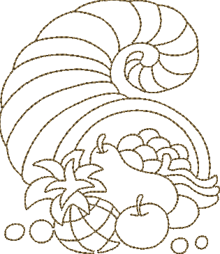 Cornucopia thanksgiving machine embroidery design for Embroidery office design version 7 5