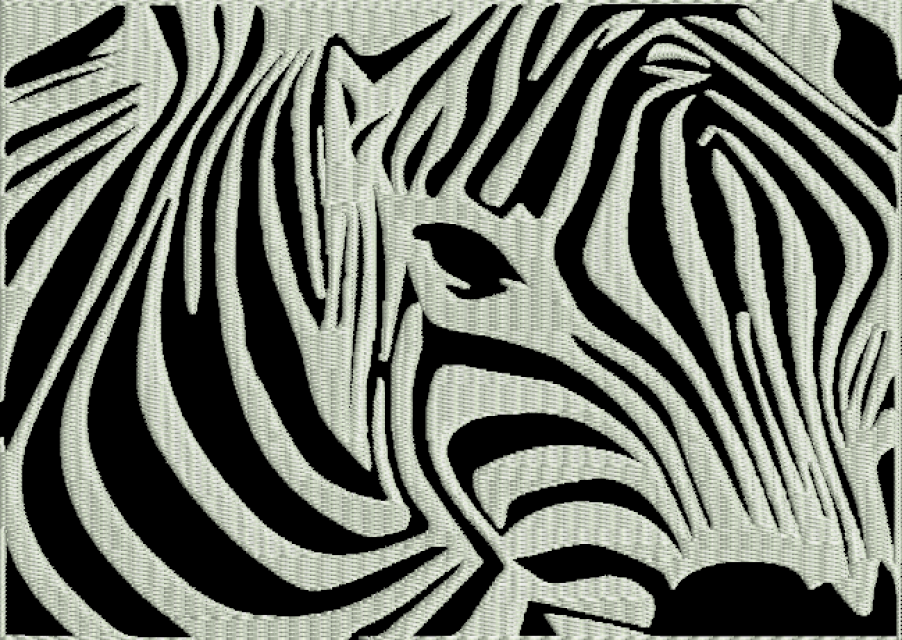 Zebra machine embroidery design animal