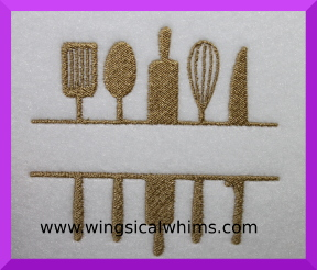 Kitchen Utensils Split Machine Embroidery Design