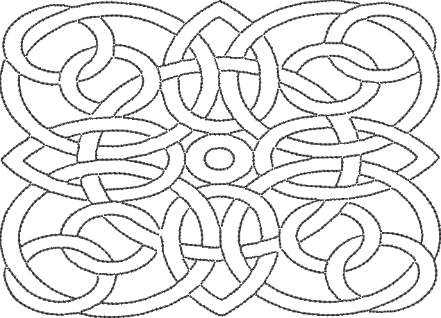 Geometrical Shape Coloring Embroidery Designs Or Line Art Design