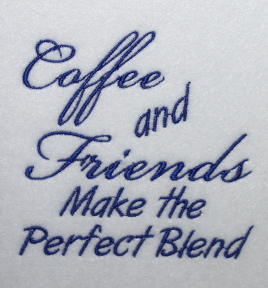 Machine Embroidery Coffee Cup Designs