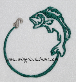 Fish with line and hook for Take me fishing org