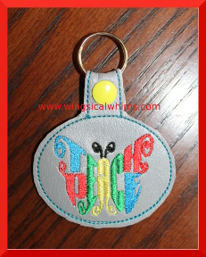 Teach Peace Machine Embroidery Design Key Chain Patch and